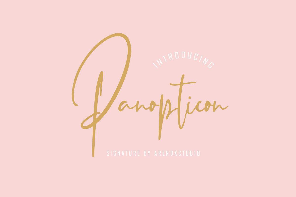Panopticon Signature Font example image 1