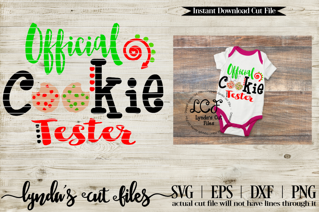 Official Cookie Tester/ Christmas//SVG//EPS//DXF example image 1