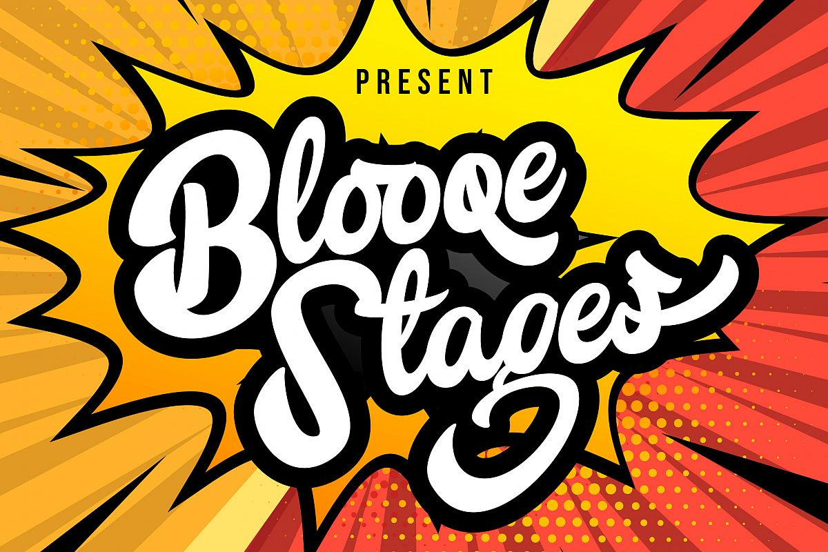 Blooqe Stages | Bold Script Font example image 1