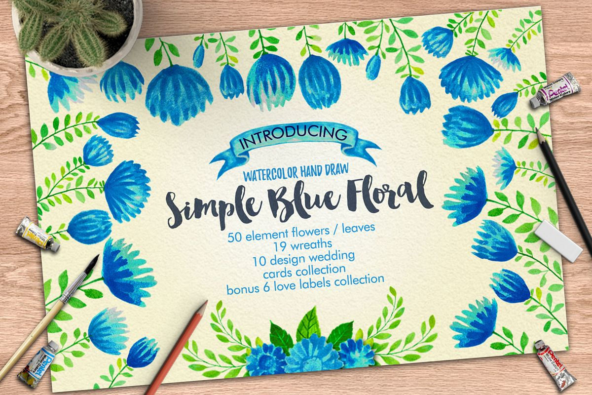 Simple Blue Floral example image 1
