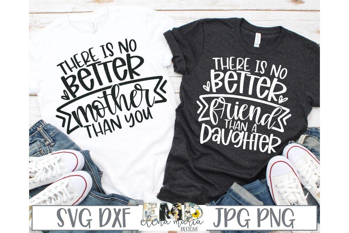 Mother Daughter Shirt SVG File | Matching Shirts Svg example image 1