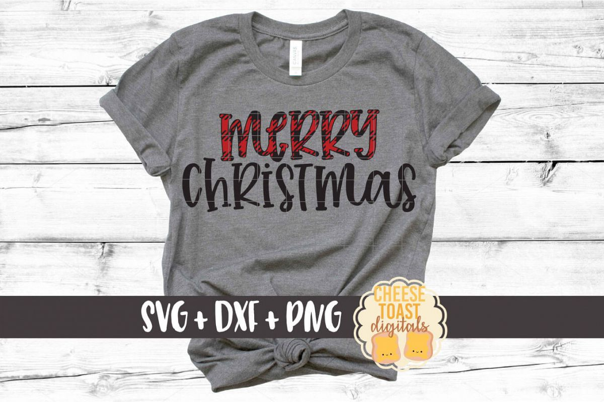 Merry Christmas - Holiday SVG PNG DXF Cut Files example image 1