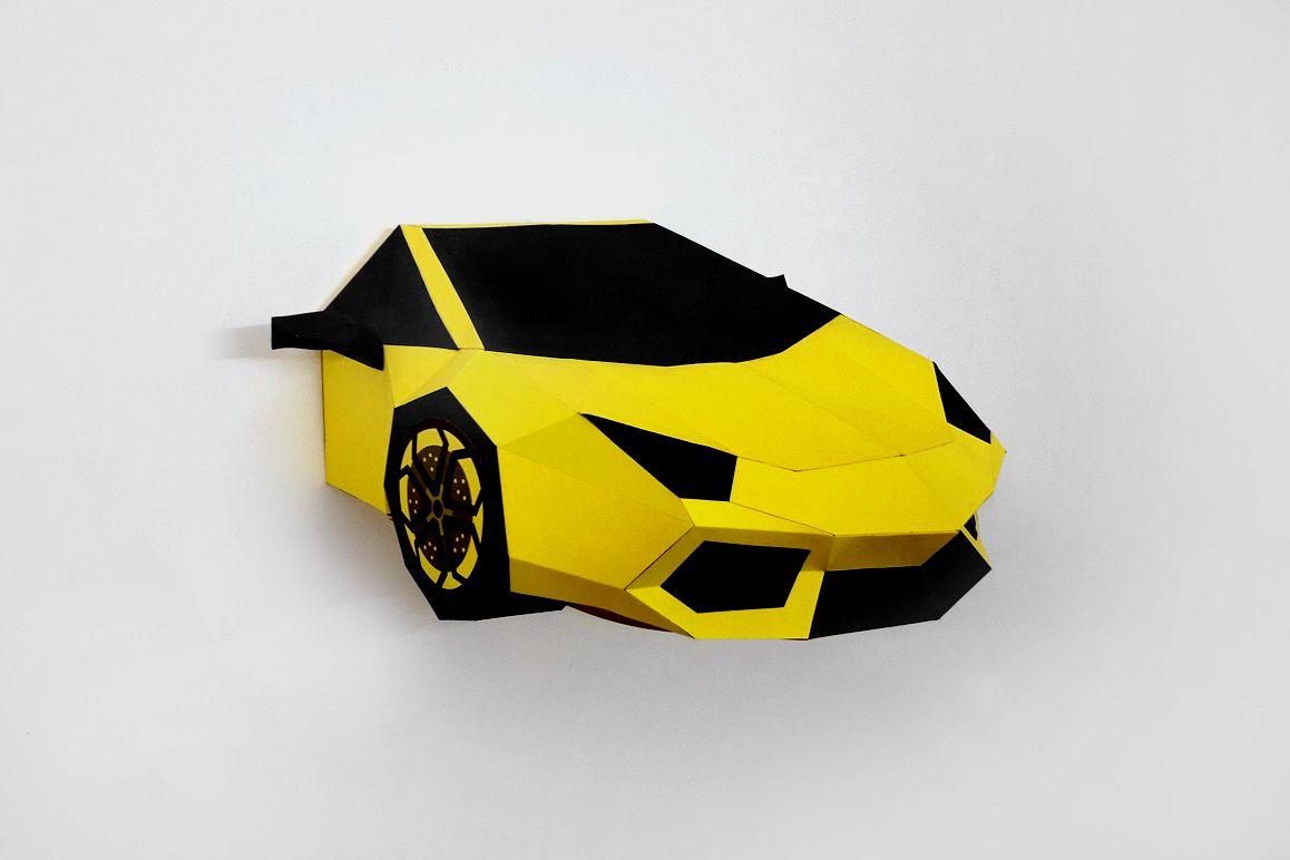 DIY Car Front - 3d papercraft example image 1