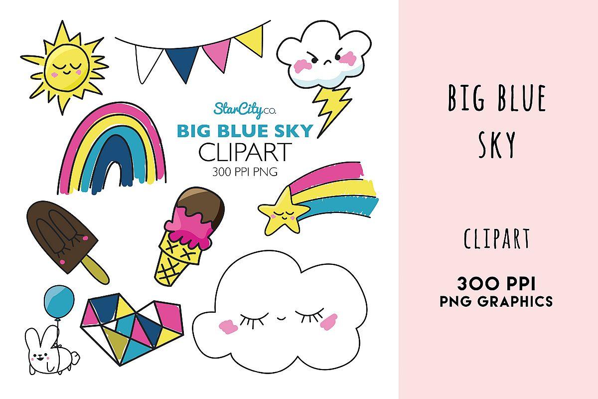 Blue Sky Cliaprt, Rainbow, Shooting Star, Storm cloud, sun example image 1