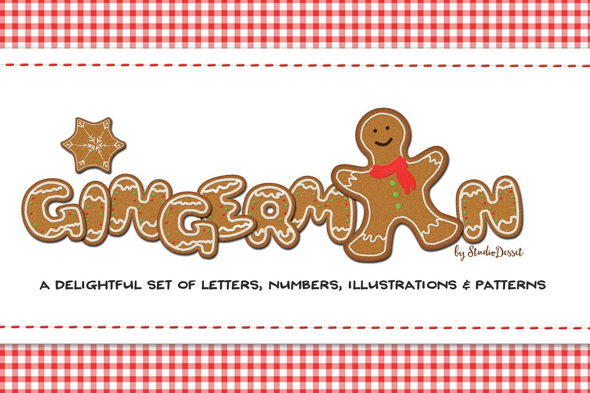 Gingerman Design Bundle - Letters, Numbers, Illustrations example image 1