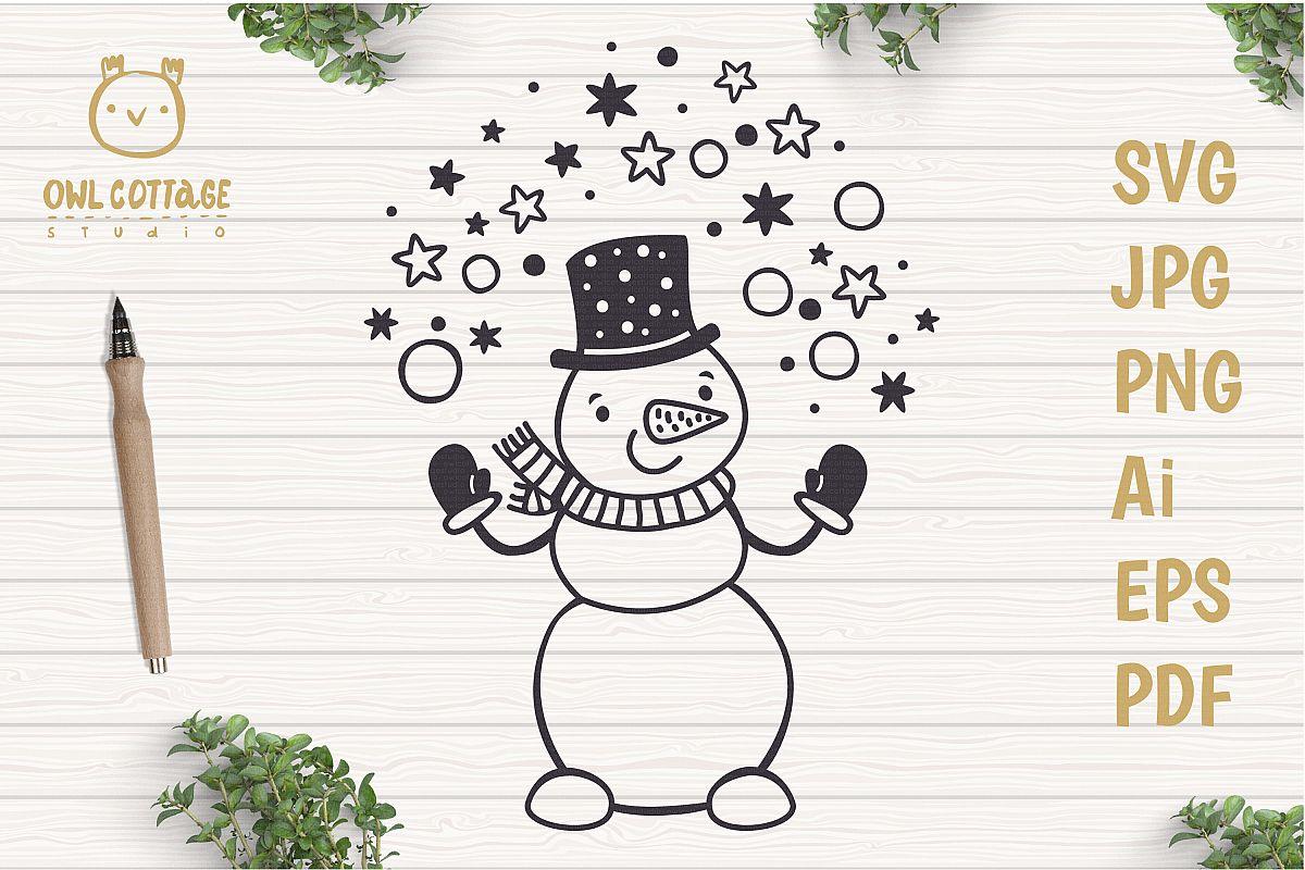 Let it Snow SVG Snowman, Snowman SVG, Christmas SVG example image 1