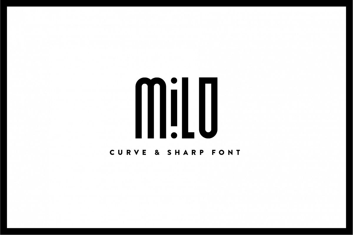 Milo - Font Family example image 1