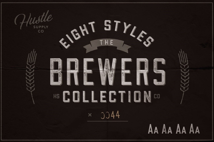 The Brewers Font Collection 8 Fonts example image 1