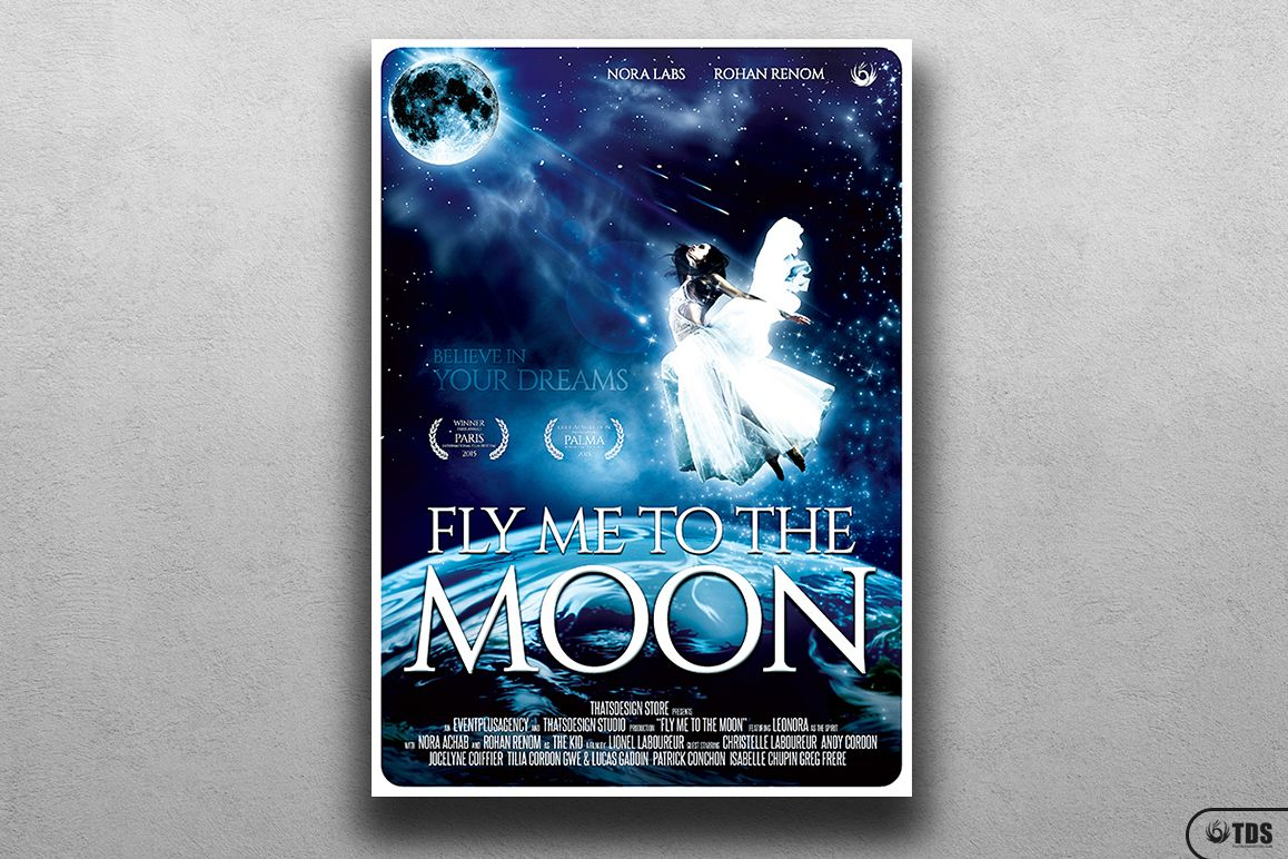 Fly Me to the Moon Movie Poster Template example image 1