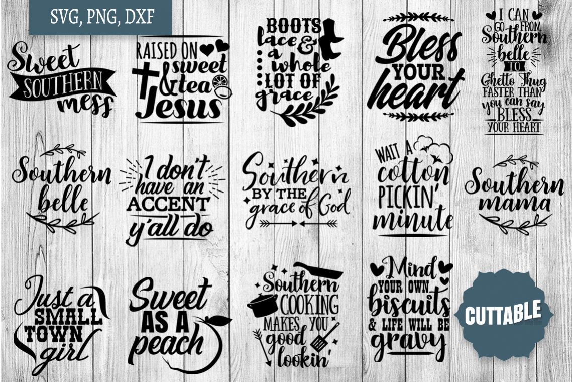 Southern cut file Bundle, Southern girl SVGs quotes example image 1