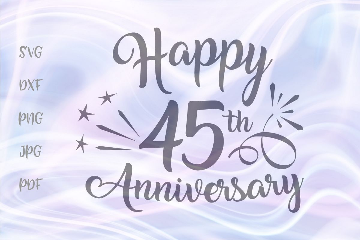 Happy 45th Anniversary Forty Five Year Sapphire Wedding Sign example image 1