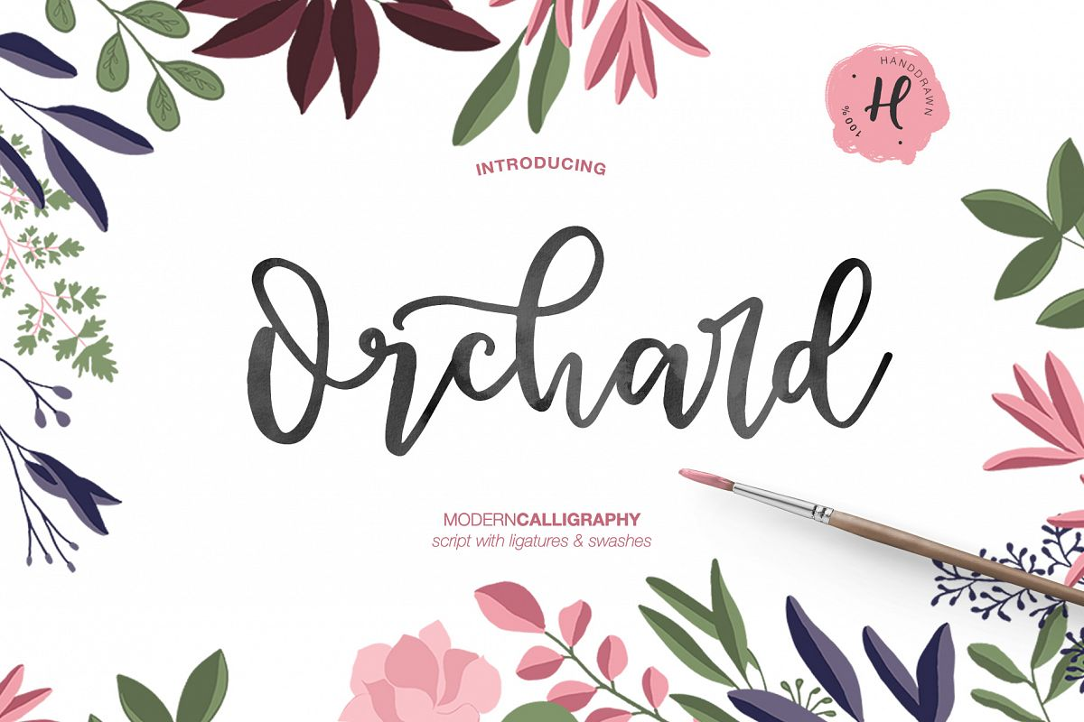 ORCHARD MODERN CALLIGRAPHY example image 1