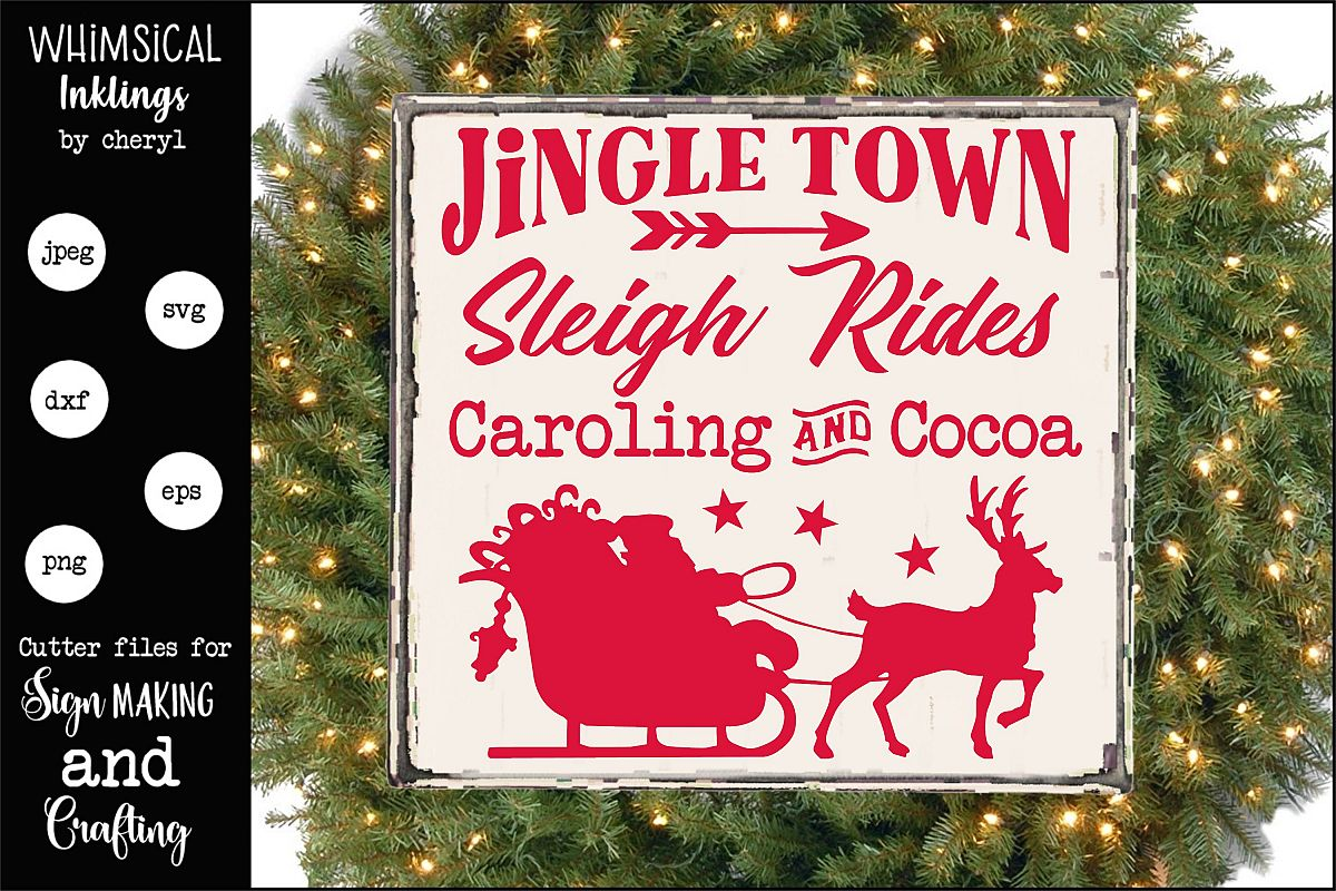 Jingle Town-Christmas SVG example image 1