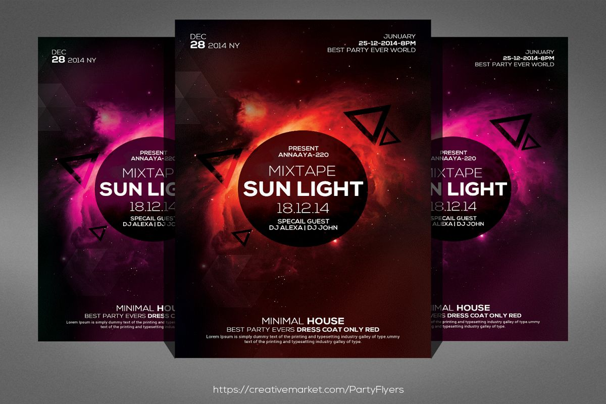 Minimal Sunlight House Flyer example image 1