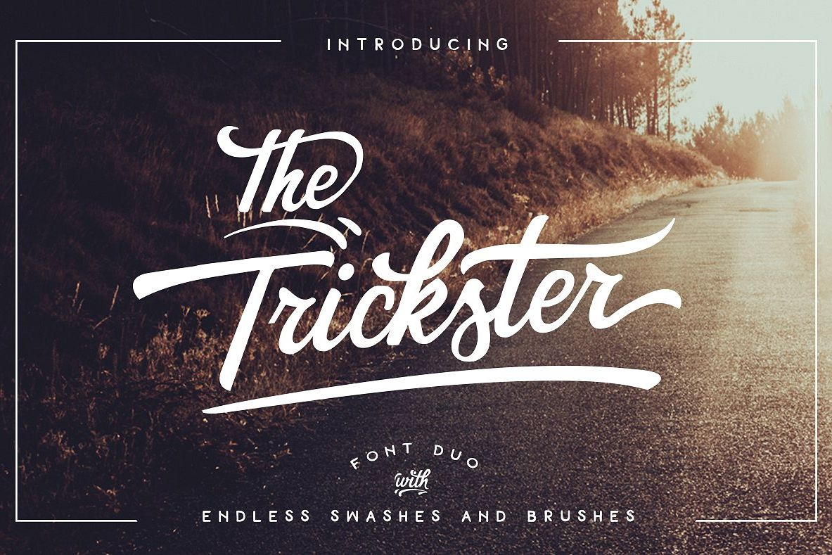 The Trickster Font Duo + extras example image 1