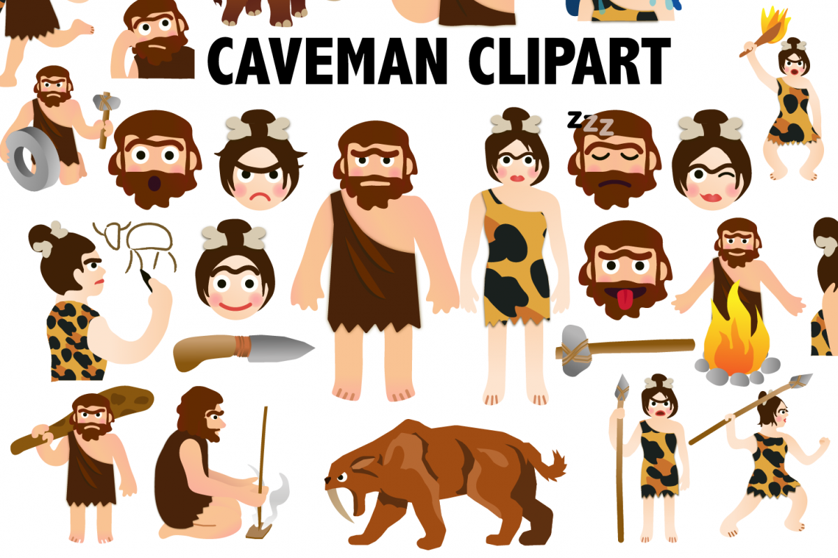Caveman Clipart example image 1
