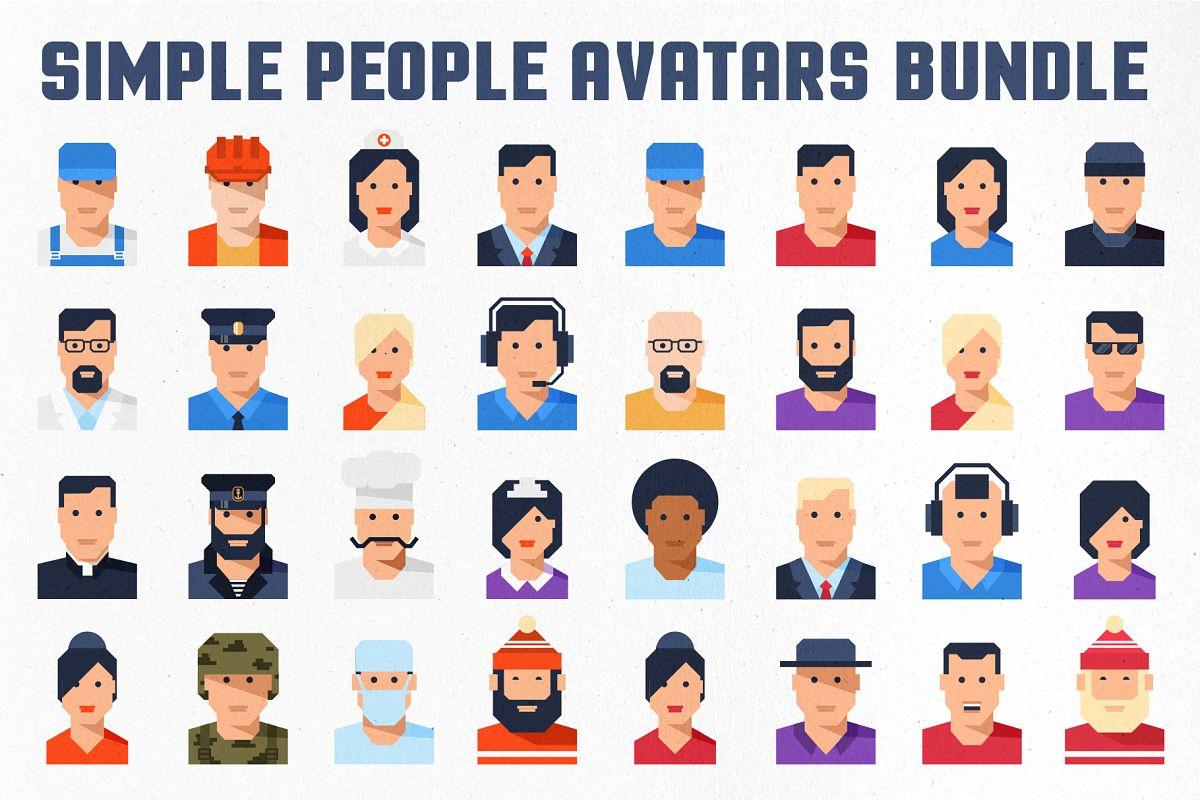 Simple People Avatar Bundle example image 1