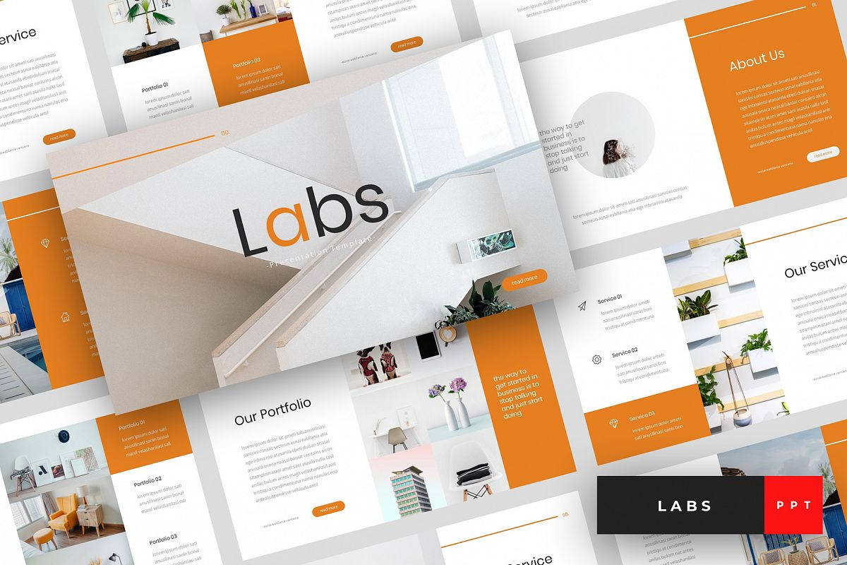 Labs - Creative PowerPoint Template example image 1