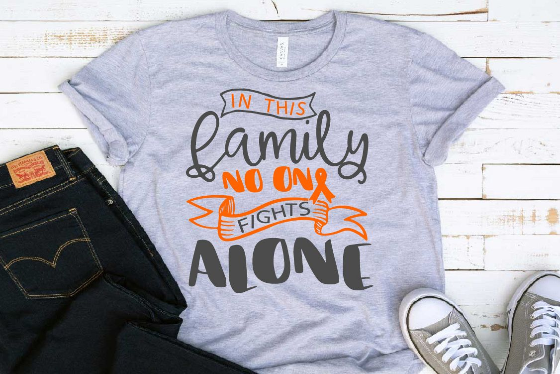 In this family no one fights alone Leukemia Cancer Svg 1562 example image 1