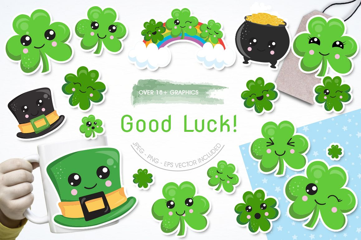 Good Luck graphic and illustrations example image 1