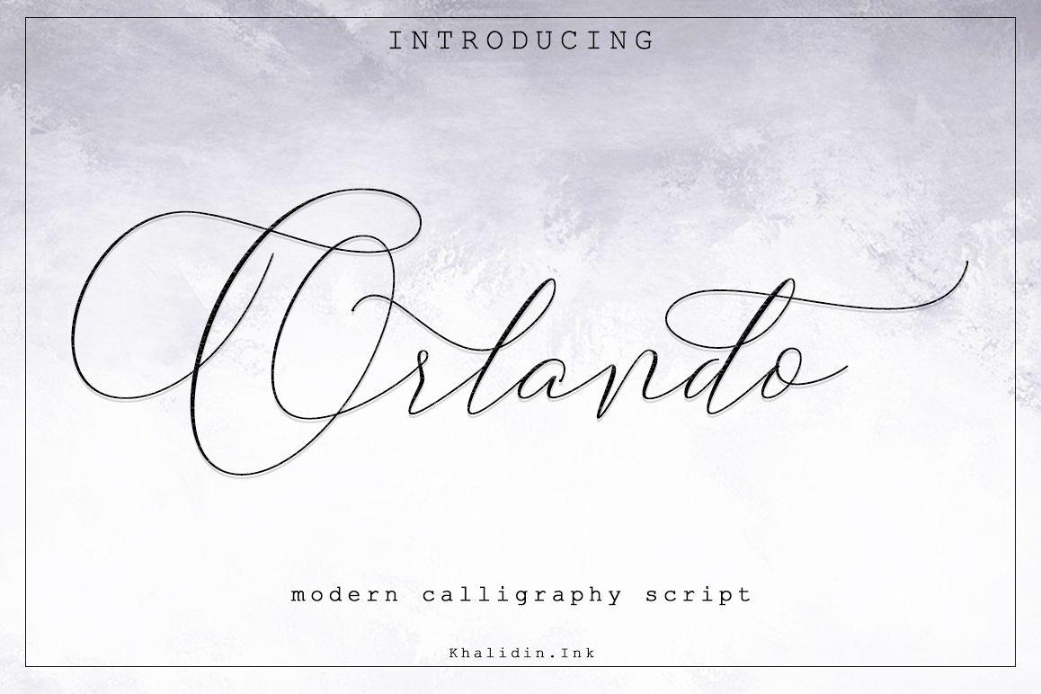 Orlando Script Font example image 1