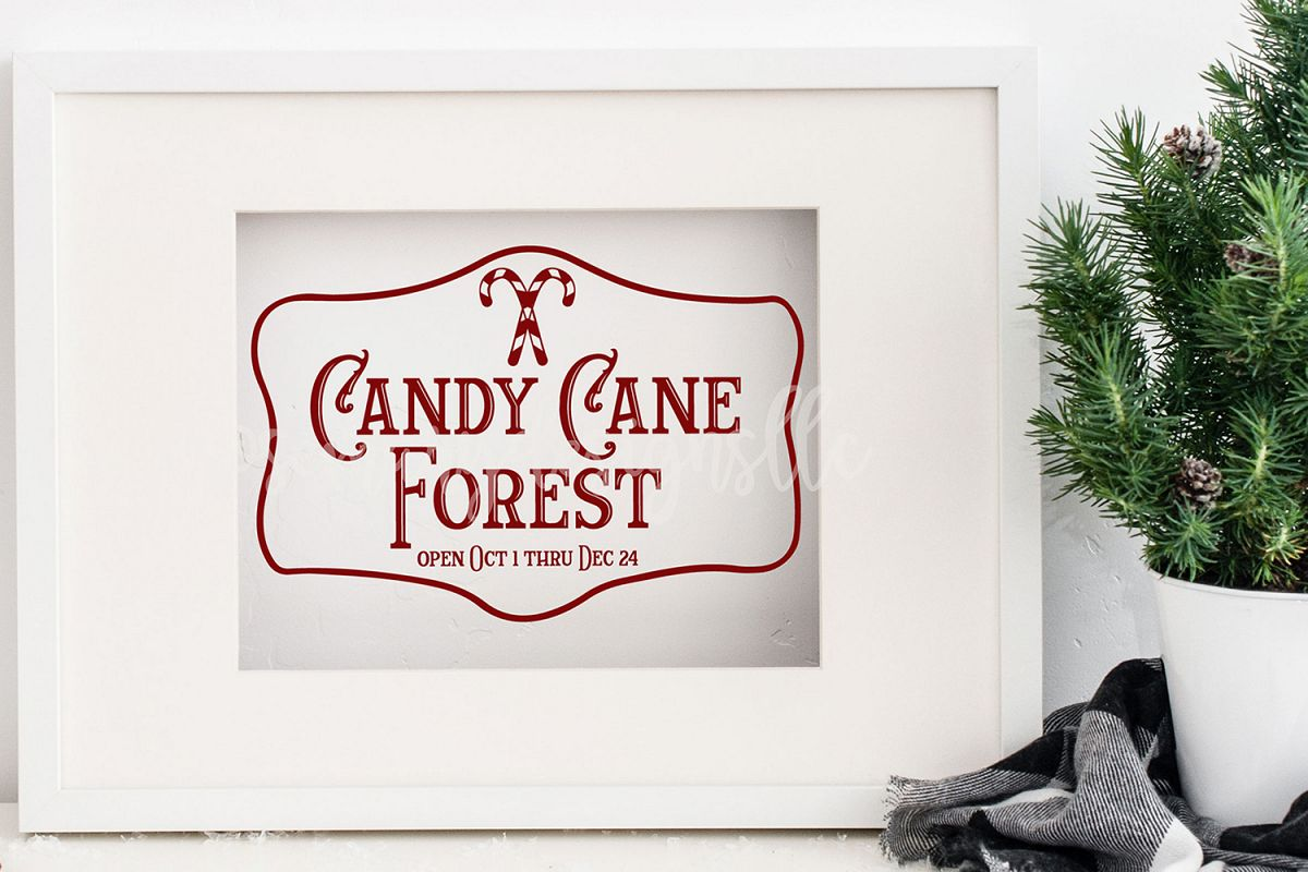 Candy Cane Forest Svg