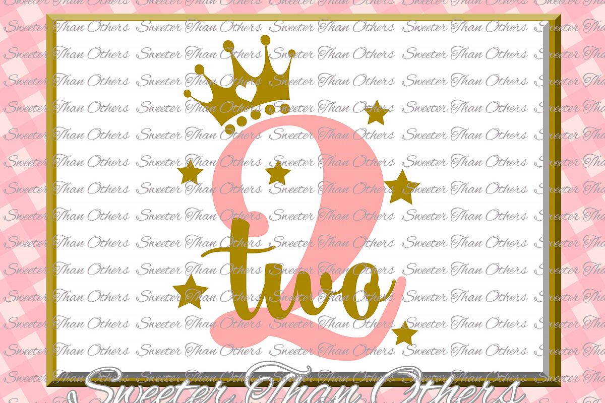 Second Birthday SVG, Two Birthday cut file example image 1