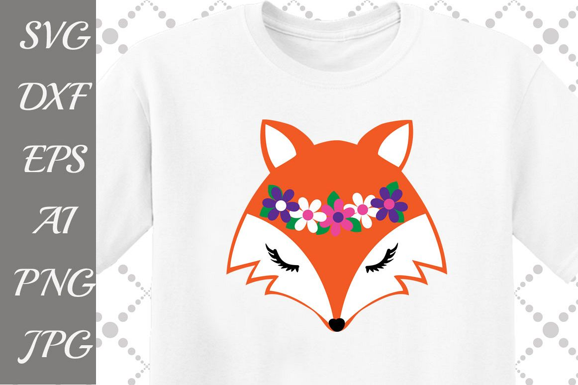 Fox Face Svg example image 1