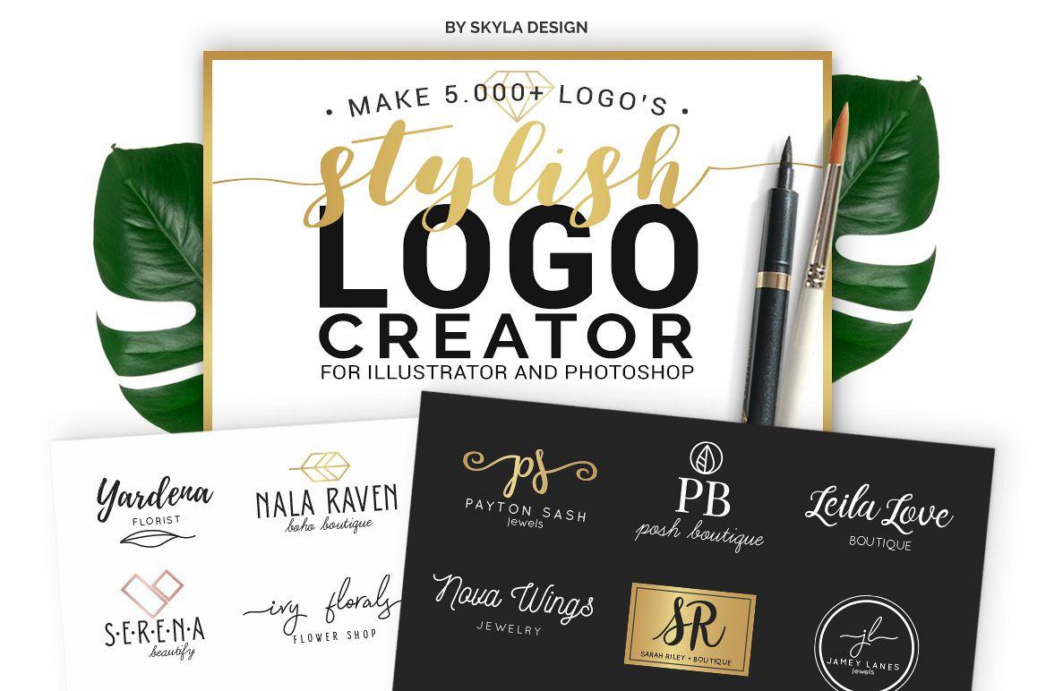 Stylish Logo Creator Kit for Illustrator Photoshop