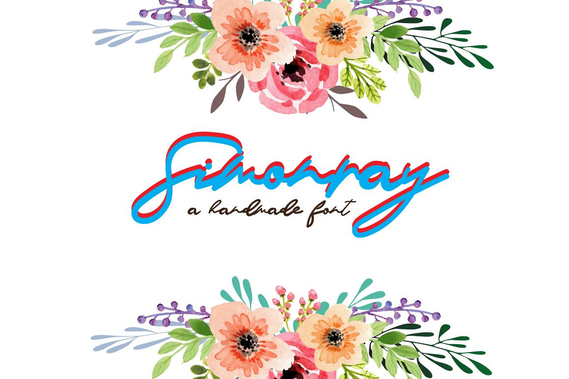 Simonray - Signature Font example image 1