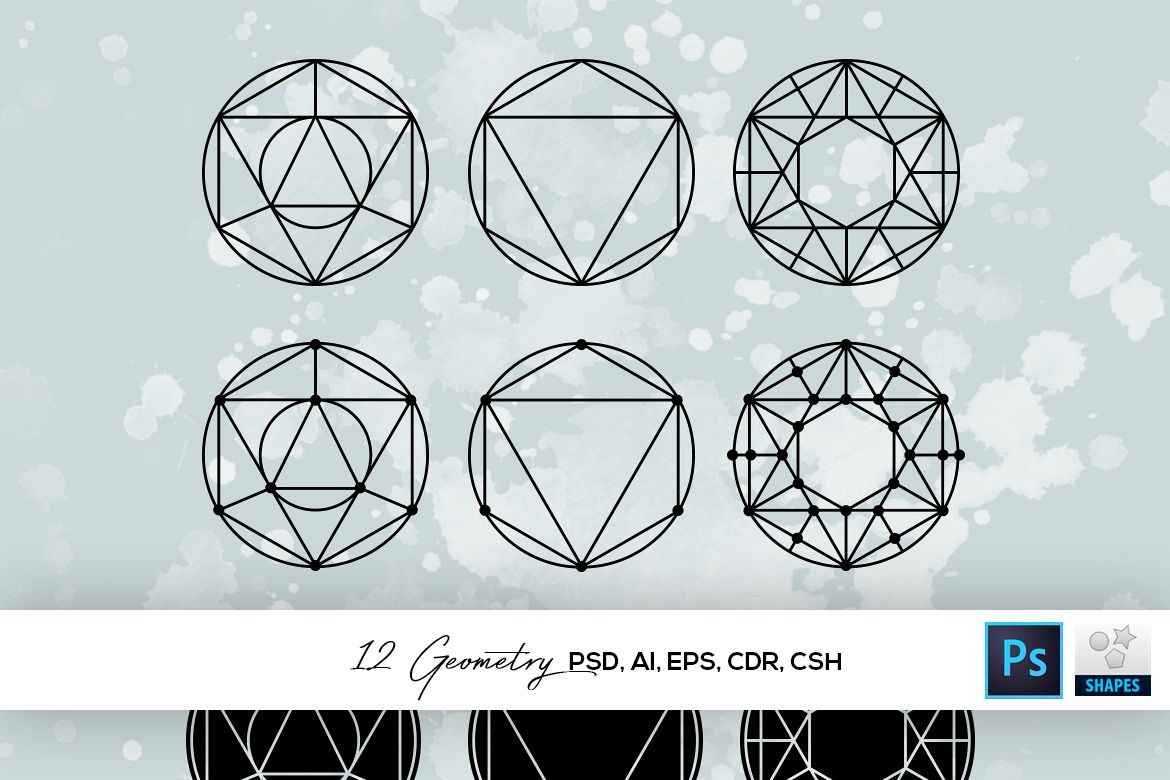 12 Geometry Shapes example image 1