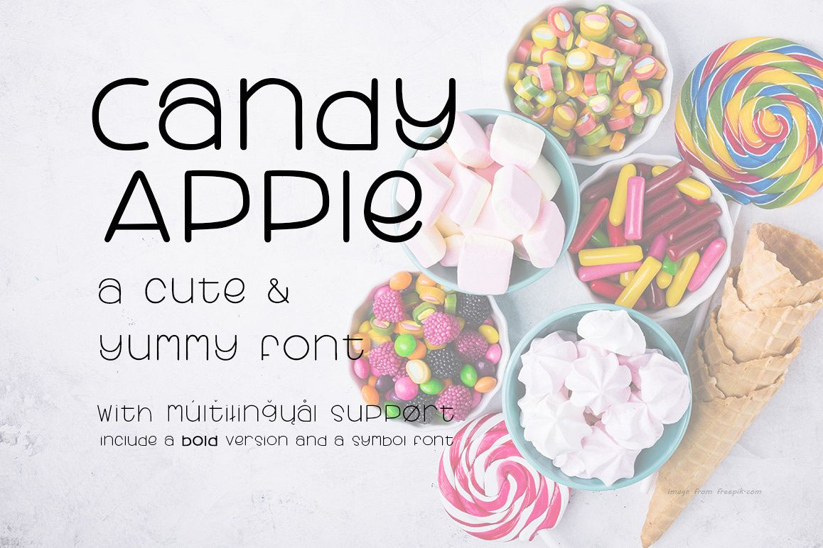 Candy Apple | A Cute and yummy font example image 1
