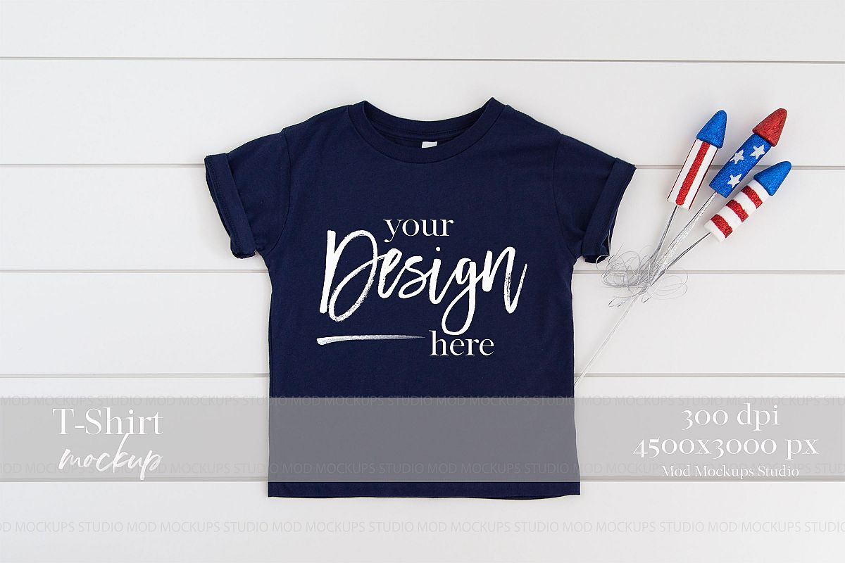 57b493d14 4TH of July Mock up T-Shirt| 3001T Bella Canvas Mockup example image 1