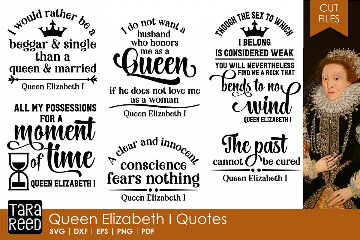 Queen Elizabeth I Quotes - Quote SVG Files for Crafters example image 1