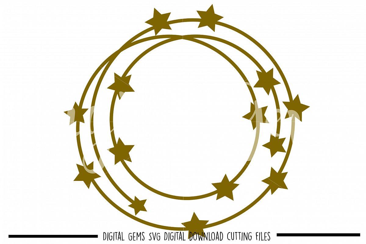 Star frame SVG / PNG / EPS / DXF files