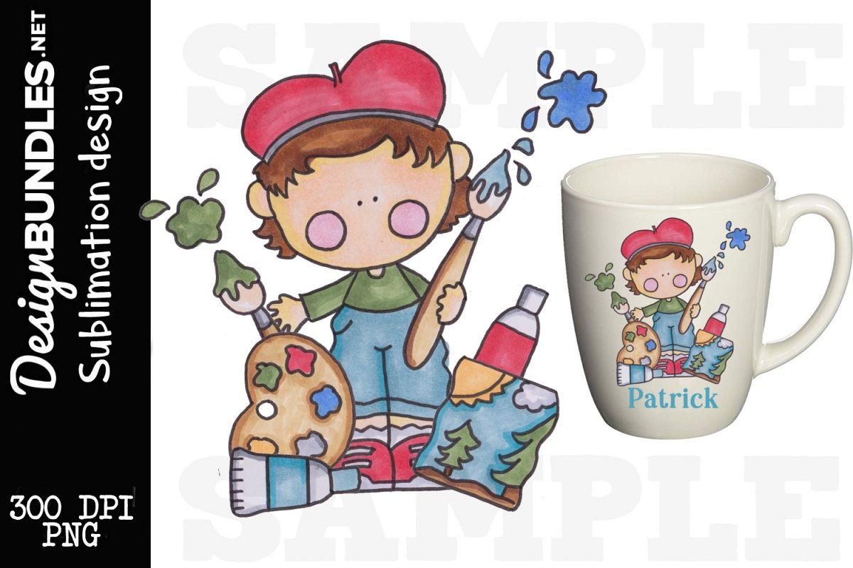 Little Artist Sublimation Design example image 1