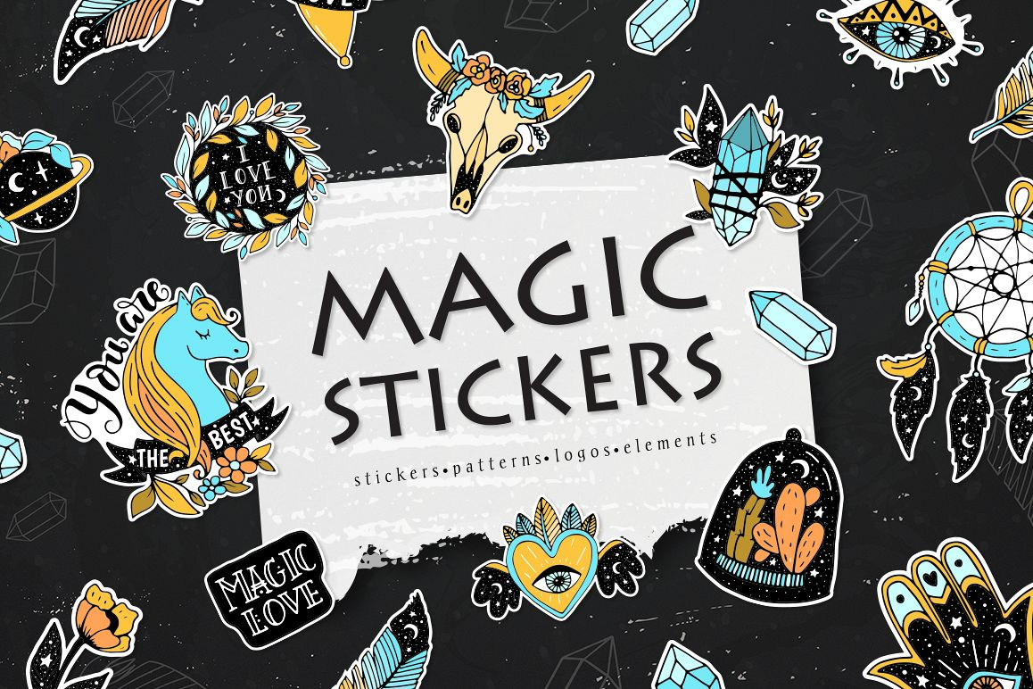Magic stickers collection example image 1