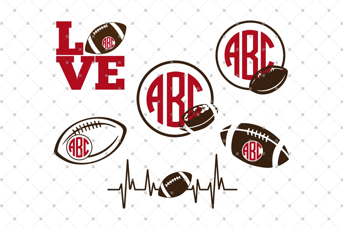 Football SVG Cut Files example image 1