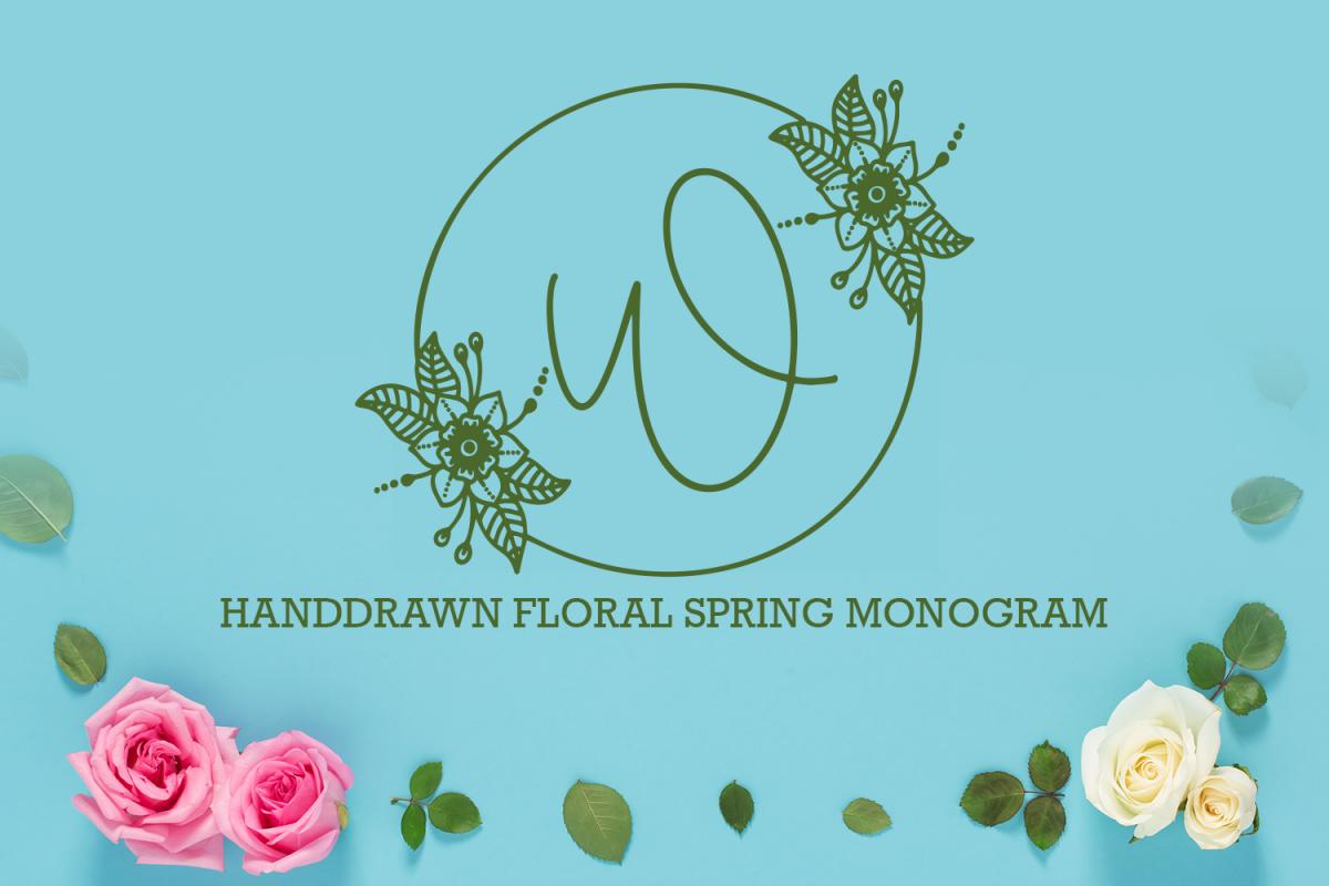 Floral Spring Monogram example image 1