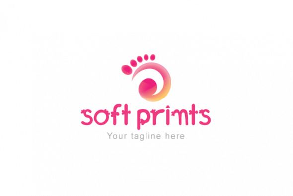 Soft Prints - Human Foot Stock Logo Template example image 1