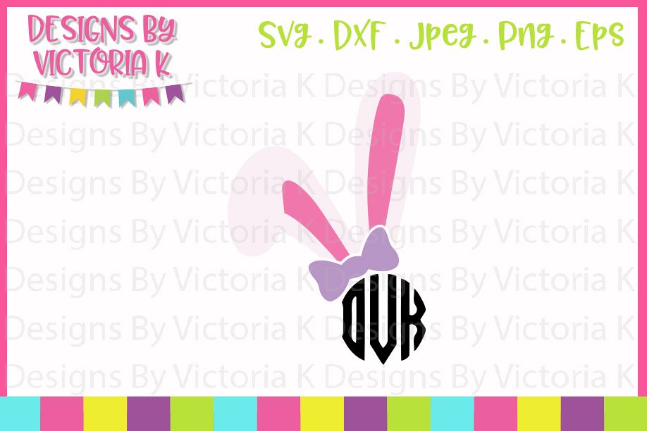 Girl Bunny Ears, bow, SVG, DXF, PNG example image 1