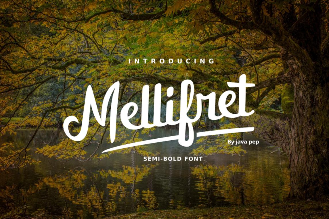 Mellifret script font example image 1