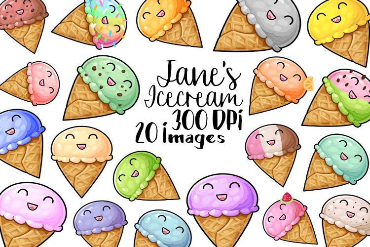 kawaii ice cream clipart