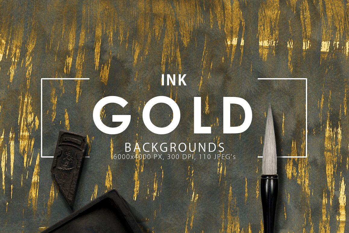Gold Ink Backgrounds example image 1