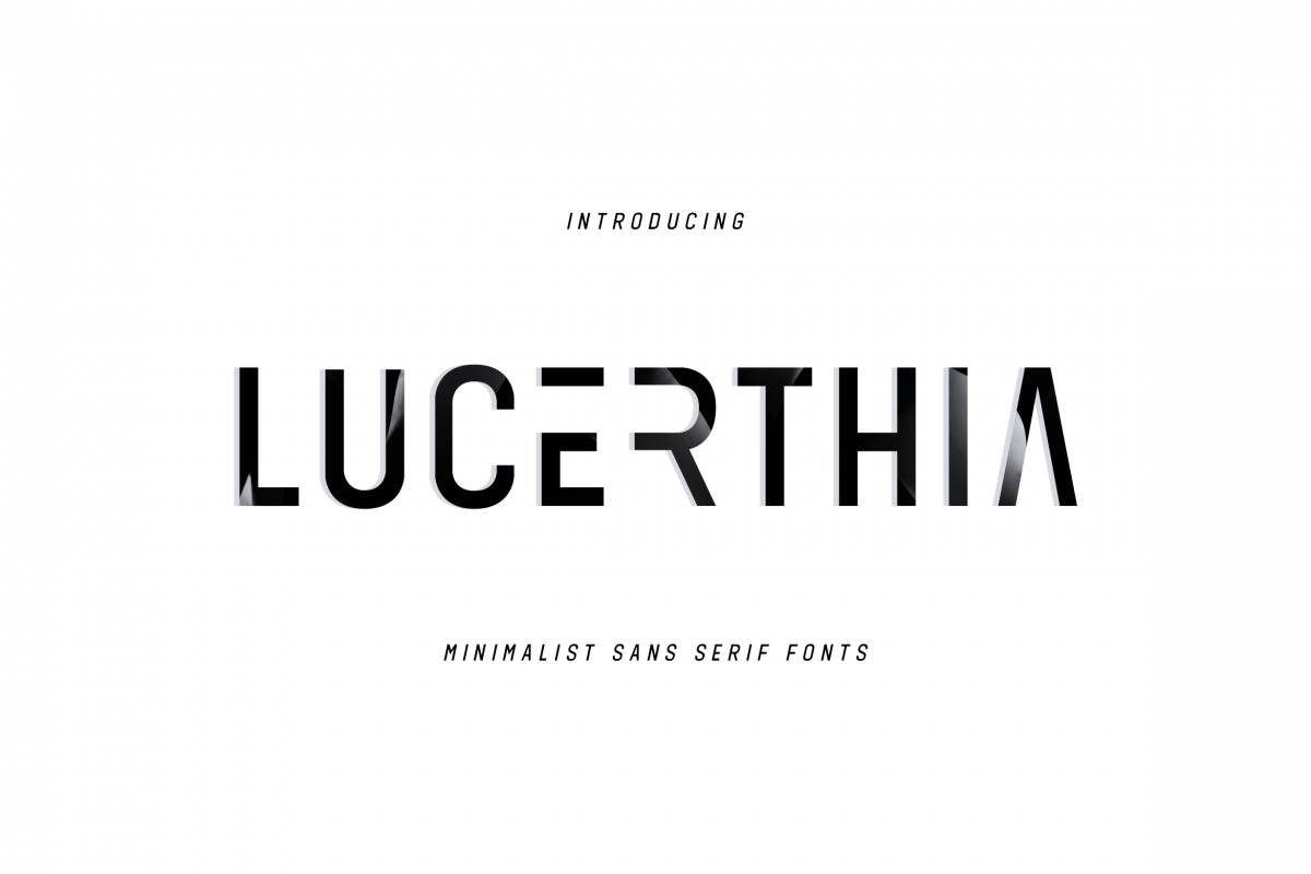 LUCRETHIA - Minimal Sans Serif Font example image 1