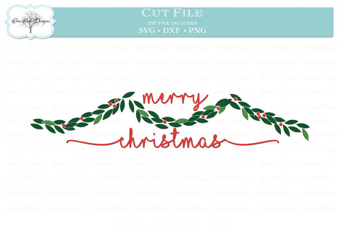 Christmas Garland Svg Dxf Png