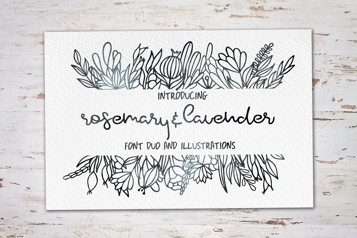 Rosemary & Lavender.Font duo+logos example image 1