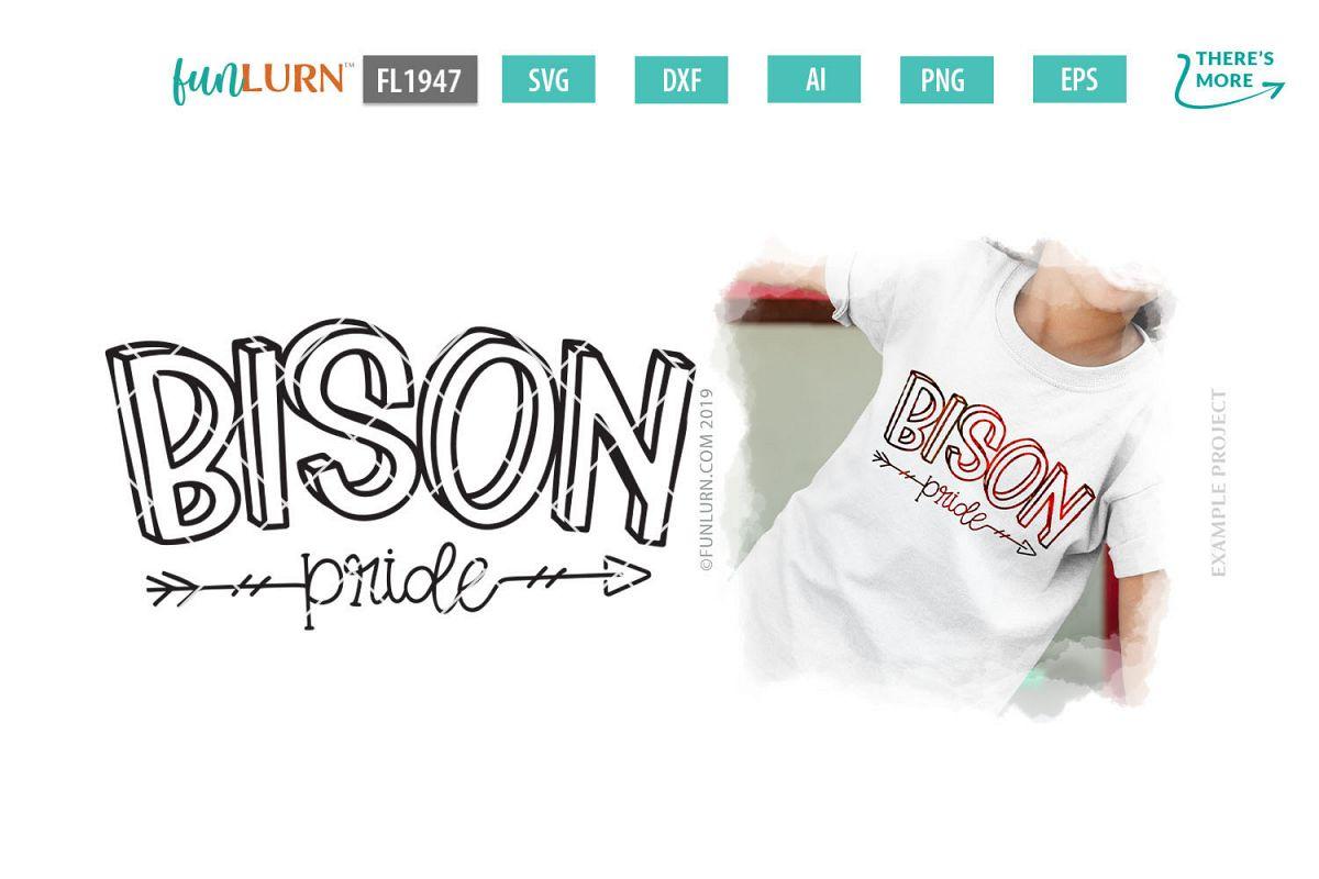 Bison Pride Team SVG Cut File example image 1