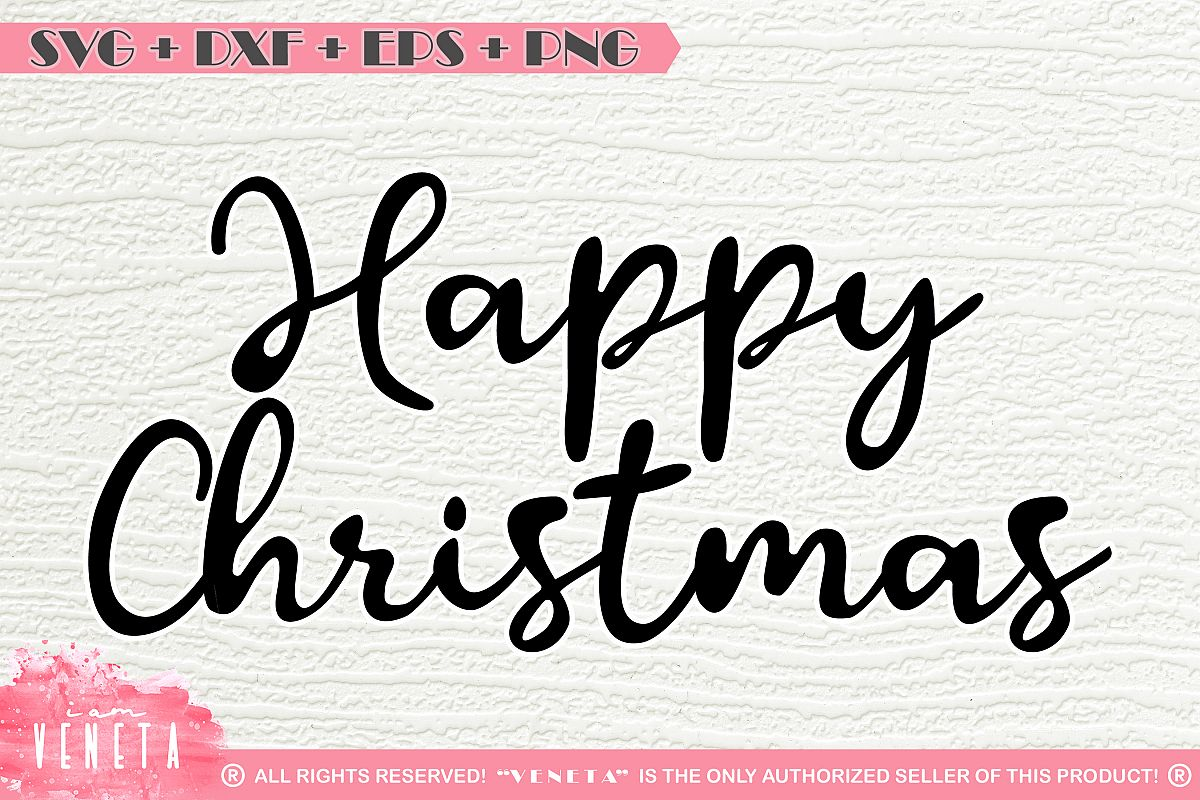 Christmas Quotes Svg.Happy Christmas Quotes Sayings Svg Dxf Cutting File