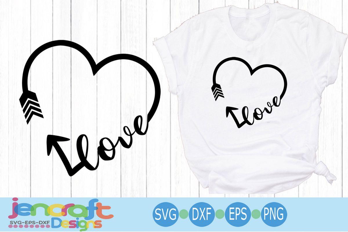 Heart Love arrow, Valentine , wedding, Christian svg e example image 1